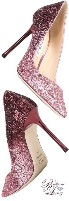 Brilliant Luxury by Emmy DE ♦ Jimmy Choo  Romy Pumps