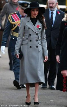 Meghan leaves this morning's service
