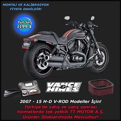 """VANCE & HANCE  Full Pack==>1199 $ 2007-2015 H-D V-ROD Modeller İçin  Türkiye'nin Tek Yetkili Distribitörü TT MOTOR'DAN!  Online Shop: ttcustomshop.net (0216) 541 91 90 - (0242) 349 28 30  We as TT MOTOR are Turkey's one and only authorized distributor for Full Pack==>1199 $ 2007-2015 H-D V-ROD Model!  #exhaust #vancehines #engine #motorbike #motorcycles #bike #bikestagram #bikelife #ride #race #rideout #road #rock #run #drive #design #safe #speed #style #lifestyle #limitededition #live"