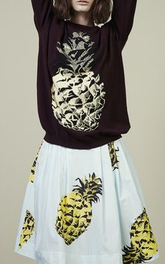 Pineapple Sweater by MSGM for Preorder on Moda Operandi