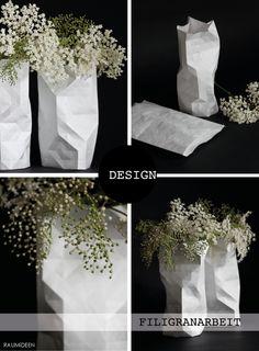 Faltvase aus Papier, eine Blumendekoration