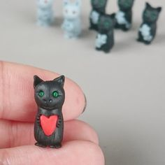 Did you know every piece of jewellery and every figurine in my shop is made from scratch...?  Each character starts as a lump of clay. I mix the perfect colour by hand, then squish and shape their features. Adding their uniqueness and fur texture with a few select tried and tested tools, no moulds here.