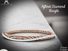Shop the Luxuries Afloat diamond bangle. #diamond #bangle #trends #shopping #india #online #perfect #embrace #embracelove #woman