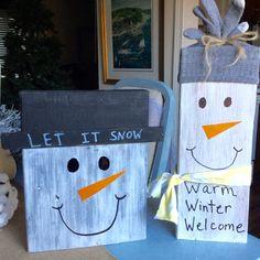 Scrap Wood Snowmen