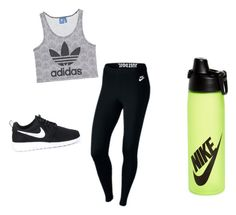 """""""Sporty day"""" by lifestyle-outfits on Polyvore featuring adidas Originals and NIKE"""
