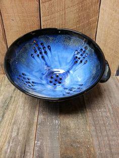 Amaco Obsidian, Indigo Float and Arctic Blue