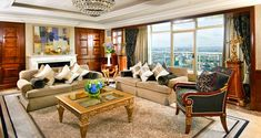 London Hilton on Park Lane hotel - Presidential Suite Lounge | W1K 1BE