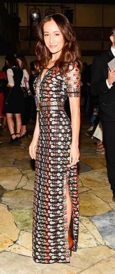 Maggie Q attending the #ToryBurchSS16 show wearing our Resort 16 collection