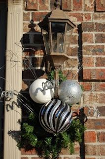 For outside lanterns on front of house