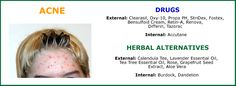 Before using any drug, check out herbal alternatives to acne treatment. Calendula, Acne Treatment, Seed Oil, Tea Tree, Aloe Vera, Drugs, Herbalism, Dandelion, Aloe