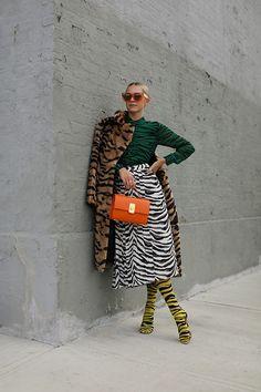 Fashion Week, Look Fashion, Autumn Fashion, Fashion Outfits, Womens Fashion, Animal Print Fashion, Fashion Prints, Animal Prints, Estilo Fashion