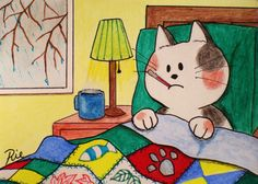 Art print of an original drawing of cat Art for by PawsHereandShop, $6.99