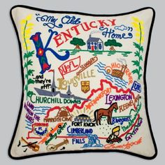 love this! http://www.catstudio.com/products/Kentucky-Pillow.html#