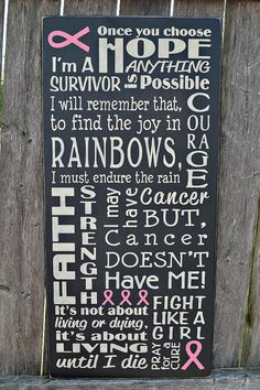 Breast Cancer Awareness Survivor primitive by PrimitiveHodgePodge wood sign