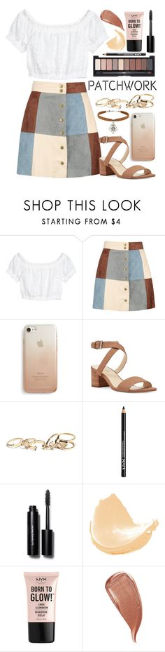 """Untitled #469"" by nerdyquirkystyle ❤ liked on Polyvore featuring Boohoo, Rebecca Minkoff, Nine West, GUESS, NYX, Bobbi Brown Cosmetics, Kevyn Aucoin and Miss Selfridge"