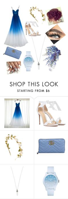 """""""wedding on the beach"""" by jorbean ❤ liked on Polyvore featuring Alexandre Birman, Gucci, Marc Jacobs and Lacoste"""