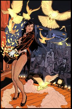 Zatanna (Zatanna Zatara) is a fictional character, a super-heroine in the DC… Zatanna Dc Comics, Dc Batgirl, Arte Dc Comics, Comic Kunst, Comic Art, Character Drawing, Comic Character, Black Canary, Catwoman