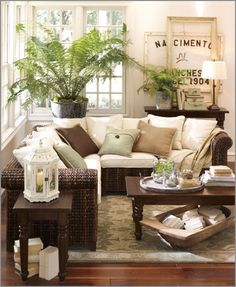 The Best Decorating Rules To Break Home Decor Home Living Room - Living Room Ideas Pottery Barn Style Home Living Room, Living Room Decor, Living Spaces, Cottage Living, Coastal Cottage, Barn Living, Rose Cottage, Coastal Living, Small Living