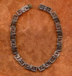 Necklace |  Margot de Taxco.  (Mexico) Silver. c. early 1950s