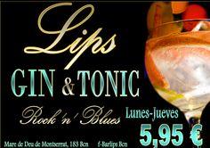 GIN TONIC PREMIUM OFERTA BAR LIPS