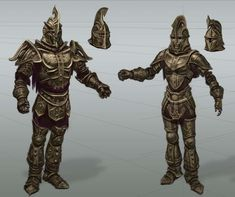 Dwemer Armor Rough Sketch concept art from The Elder Scrolls V: Skyrim by Adam Adamowicz