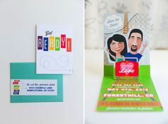 Custom illustration pop-up card save the dates! On a roller coaster! Designed by The Goodness | thegoodness.com