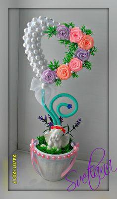 Одноклассники Cup Crafts, Diy Crafts Hacks, Diy And Crafts, Crafts For Kids, Pop Up Flower Cards, Creative Flower Arrangements, Diy Y Manualidades, Diy Ribbon, Valentine Crafts