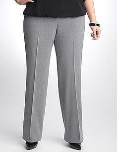 Your go-to pant for everyday style, our classic trouser takes you to the office, through happy hour and beyond. Comfortable and versatile TRS fabric offers a lovely drape with a hint of spandex for a curve-flattering fit.  Finished with two front pockets and button & zip fly closure.  sonsi.com
