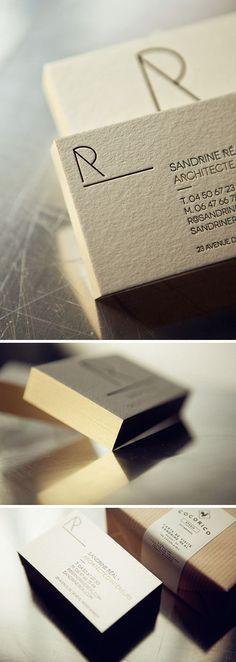 Cocorico Letterpress carte de visite presse typo