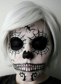 sugar skull web facepaint