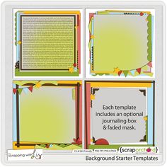 Background Starter Templates by Scrapping with Liz $4