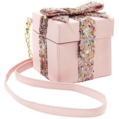 Betsey Johnson That Is A Wrap Crossbody ($68) ❤ liked on Polyvore featuring bags, handbags, shoulder bags, blush, crossbody purse, betsey johnson crossbody, evening purse, chain strap purse and evening handbags