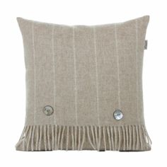 Discover the Bronte Pinstripe Beige Cushion at Amara