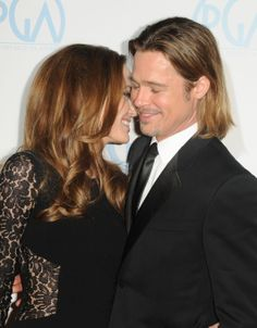 Brad Pitt and Angelina Jolie :~~I absolutely love this picture of two of my favorite actors!