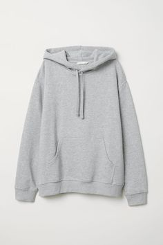 Wide-cut sweatshirt with a jersey-lined drawstring hood. Dropped shoulders kangaroo pocket and ribbing at cuffs and hem. Cute Casual Outfits, Stylish Outfits, Jugend Mode Outfits, Stylish Hoodies, Pullover Hoodie, Grey Sweatshirt, Applis Photo, Hoodie Sweatshirts, Teen Fashion Outfits