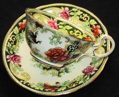 ٠•●●♥♥❤ஜ۩۞۩ஜஜ۩۞۩ஜ❤♥♥●   Antique Aynsley Bird ~ Roses exquisite Tea cup and saucer  ٠•●●♥♥❤ஜ۩۞۩ஜஜ۩۞۩ஜ❤♥♥●