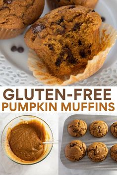 Gluten-Free Pumpkin Muffins! The gluten-free fall baking recipe you'll love for breakfast or dessert! Soft, fluffy and full of fall spices. Your house will smell amazing! Gluten Free Recipes For Breakfast, Best Gluten Free Recipes, Gluten Free Desserts, Brunch Recipes, Healthy Recipes, Gluten Free Pumpkin, Gluten Free Baking, Pumpkin Recipes, Fall Recipes