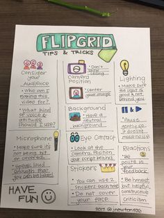Flipgrid Tips and Tricks Teaching Technology, Teaching Tools, Educational Technology, Teaching Resources, Middle School Technology, Writing Resources, Flipped Classroom, School Classroom, Google Classroom