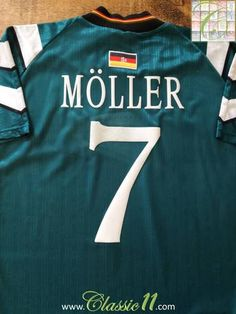 5c70c2ef3 Official Adidas Germany away football shirt from the 1996 97 international  season. Complete with