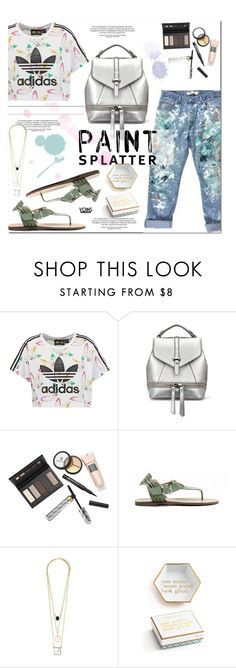 """yoins"" by yoinscollection ❤ liked on Polyvore featuring adidas Originals, Manolo Blahnik, Borghese and paintsplatter"