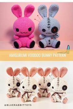 Crochet jewelry 734086808000478497 - Amigurumi voodoo bunny pattern Crochet with alternative materials Crocheted by thread, whether Source by Crochet Bunny Pattern, Crochet Animal Patterns, Stuffed Animal Patterns, Crochet Patterns Amigurumi, Crochet Animals, Crochet Dolls, Plushie Patterns, Wire Crochet, Crochet Crafts