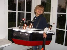 Titanic Halloween Costumes | Made with all sorts of crafts.