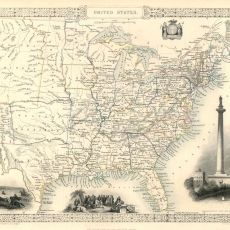 Vintage map of USA - Archival print - Old map of The United States, fine reproduction on paper or canvas Vintage Maps, Antique Maps, Vintage Wall Art, European Map, Map Pictures, Map Wallpaper, United States Map, Nebraska, Oklahoma