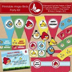 milleideeperunafesta: Angry Birds: kit completo da stampare