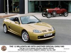 My first colour and trim project. Tuesday, 16 April 2002 – the 1.5 Millionth MG is a new MG TF 160 roadster (VIN 604127).