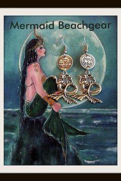 Mermaid Earrings by MermaidBeachgear on Etsy