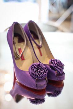 Purple Bridal Shoes ♥ love #bridal #shoes