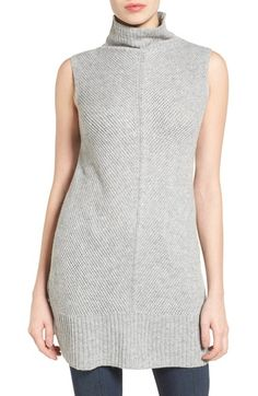 Halogen® Sleeveless Tunic Sweater (Regular & Petite) available at #Nordstrom