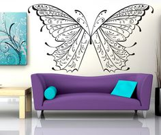 Vinyl Wall Decal Sticker Butterfly Wings #OS_DC226 | Stickerbrand wall art decals, wall graphics and wall murals.