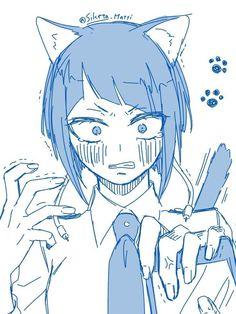 Anime Girl Neko, Me Anime, Anime Art, Buko No Hero Academia, My Hero Academia Manga, Chinese Cartoon, Hero Girl, Hero Academia Characters, Cute Anime Couples